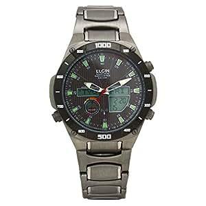 [エルジン]ELGIN 腕時計 メンズウォッチ 電波 ソーラー ワ-ルドタイム オールチタン 100M防水 ブラック FK1397TI-BP メンズ