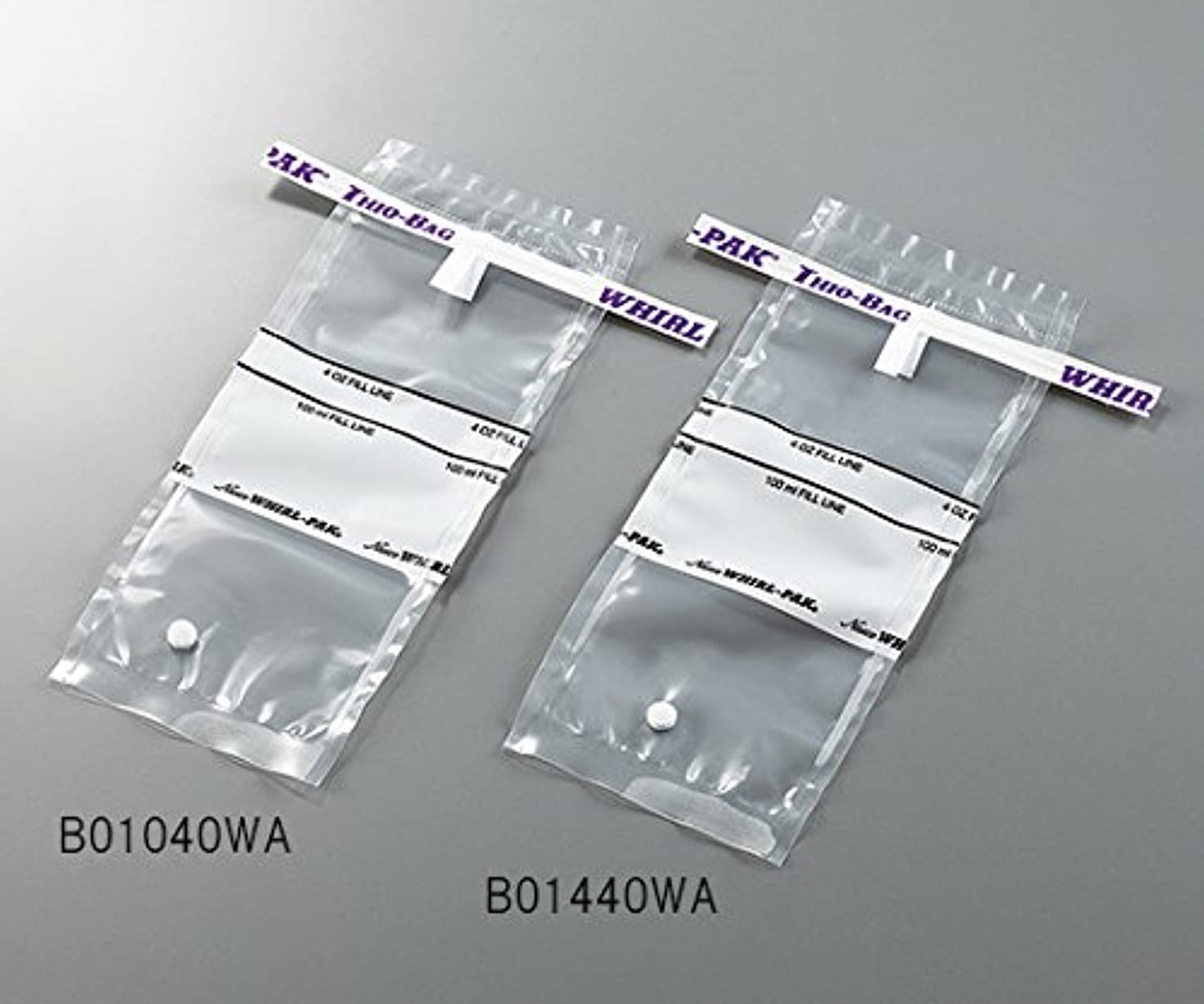 作者ローズ実際の3-5414-01採水用サンプリングバッグ100mLチオ硫酸ナトリウム含有量10g
