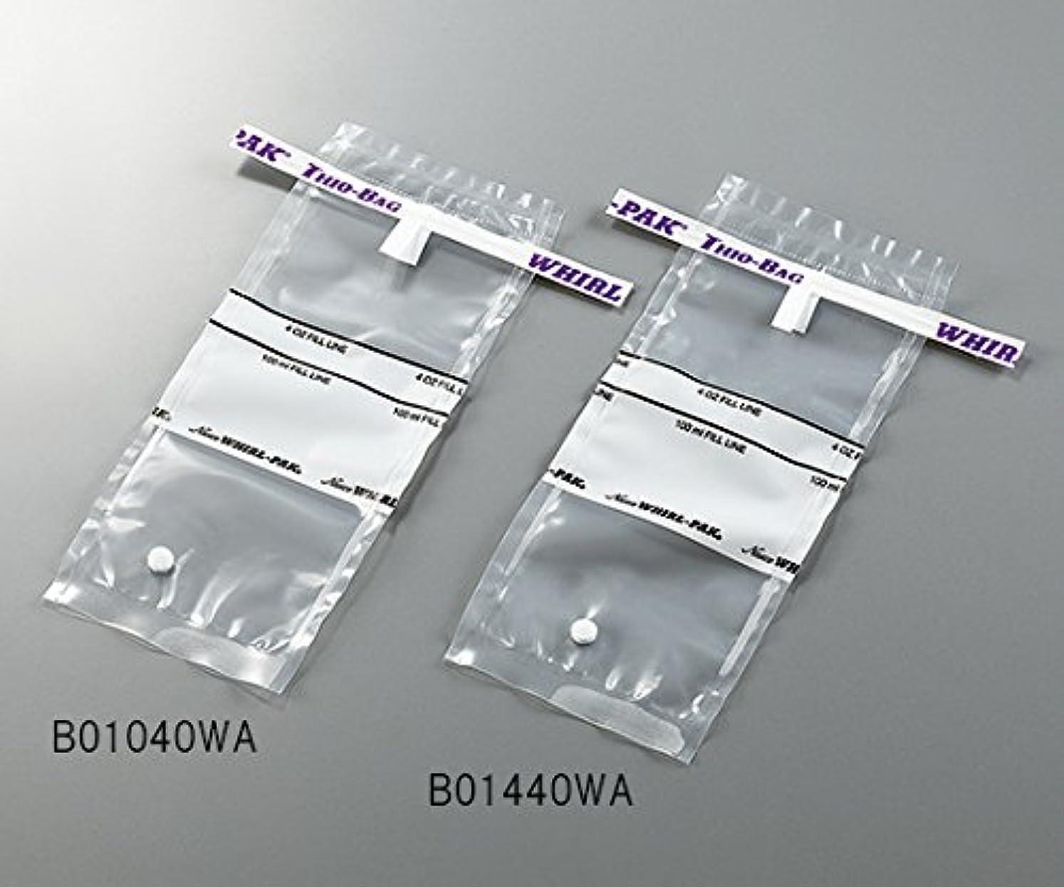 ライブ全体相手3-5414-01採水用サンプリングバッグ100mLチオ硫酸ナトリウム含有量10g