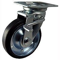ナンシン 産業用キャスター 自在φ150ゴム車輪(ベアリング入り) ストッパー付き STM-150 VS W-3R