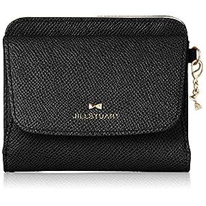 [ジルスチュアート]折財布 【ビスコッティ】二つ折リ 薄型 アンティーク風 ラインストーン リボン 飾りチャーム付 JSLW8ES1 ブラック