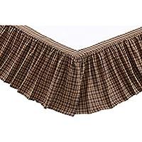 VHC Brands 14955 プレスコット キング ベッドスカート クイーン ブラウン 14956