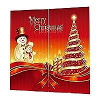 SONONIA 全28タイプ 2本 クリスマス テーマ 窓 ドア カーテン ドレスアップ ブラインド 装飾 - 016