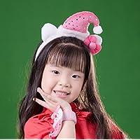 Alincoo クリスマス カチューシャ 子供 クリスマス ヘアバンド カチューシャ 雪だるま ヘアアクセサリー 仮装 グッズ コスプレ プレゼント 無料のブレスレット付き (雪だるま ピンク)