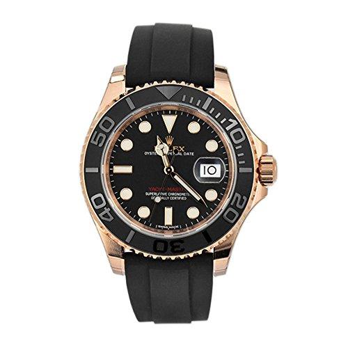 Rolexヨットマスター40ブラックdial18Kローズゴールドメンズ時計116655