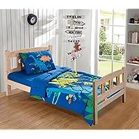 MKコレクションシートセット恐竜ブルーグリーンオレンジレッドホワイト# Dinoホワイト新しい Toddler Comforter