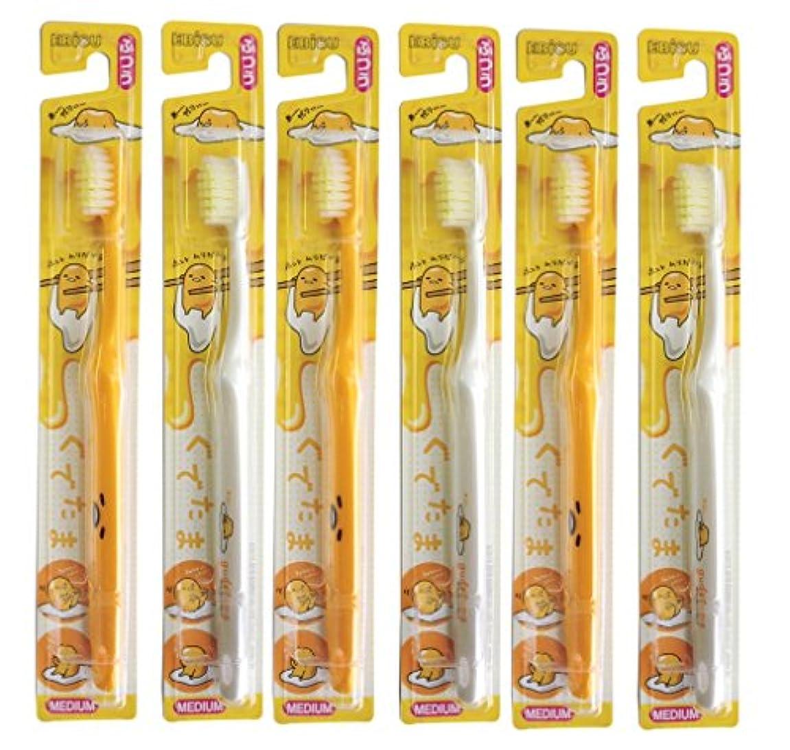 プレゼンテーションロータリーちょっと待ってエビス 歯ブラシ キャラコレ ぐでたま ハブラシ 6本組