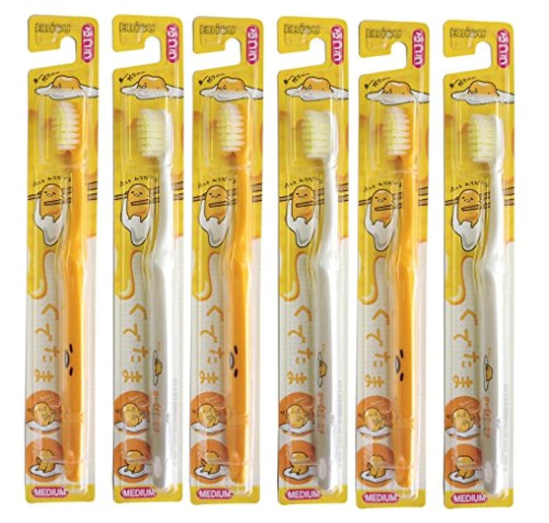 接尾辞ボトル多用途エビス 歯ブラシ キャラコレ ぐでたま ハブラシ 6本組