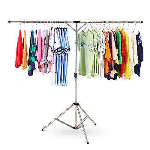 物干しラック 布団ハンガー DEWEL 洗濯ハンガー タオルハンガー ふとん干し 洗濯物干し 折り畳み 伸縮式 省スペース(125(旅行用))