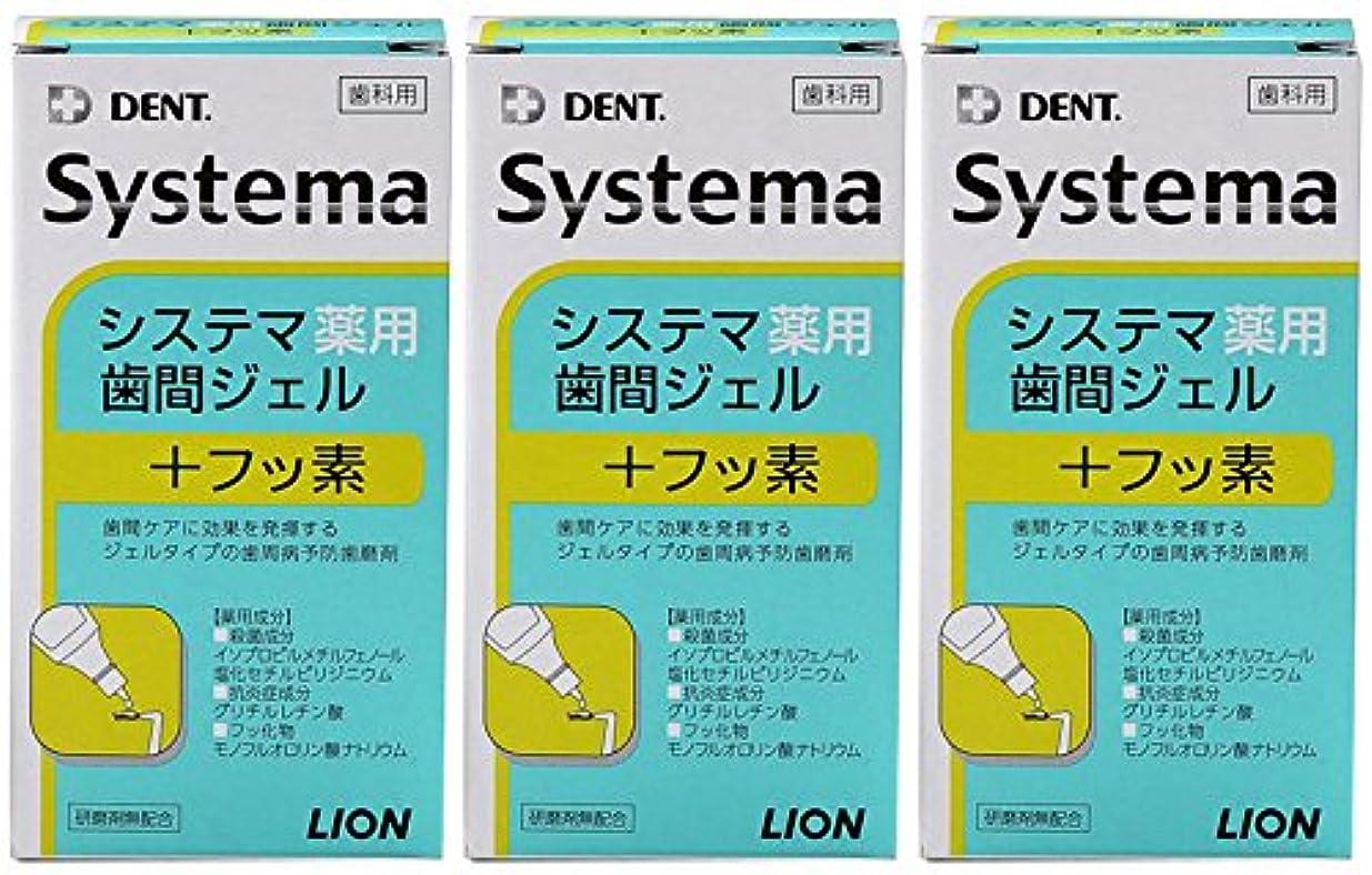 候補者固める外国人ライオン DENT システマ薬用歯間ジェル 20ml(3本セット)