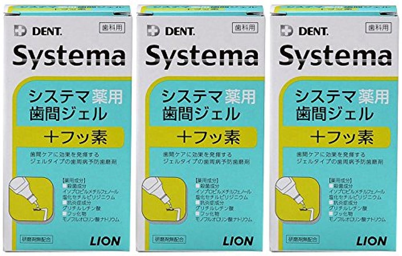 粗いクラッシュ死んでいるライオン DENT システマ薬用歯間ジェル 20ml(3本セット)