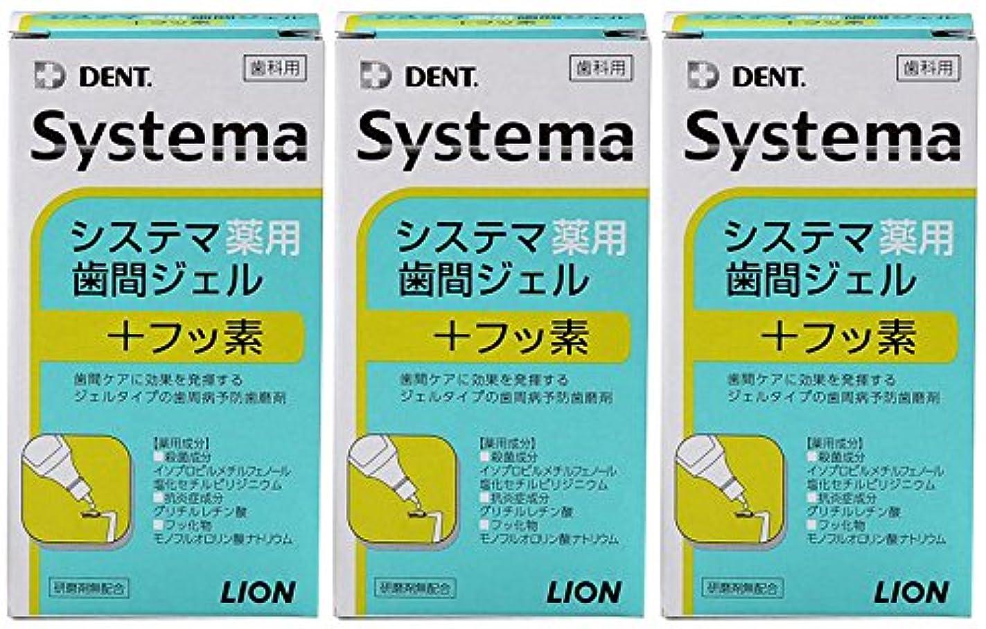 緊急プライバシー著名なライオン DENT システマ薬用歯間ジェル 20ml(3本セット)