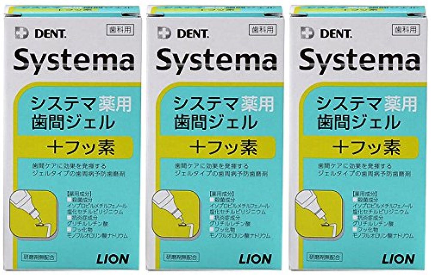 通常式ブラケットライオン DENT システマ薬用歯間ジェル 20ml(3本セット)