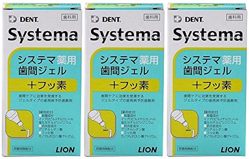 ライオン DENT システマ薬用歯間ジェル 20ml(3本セット)