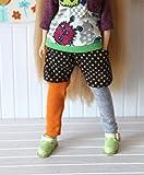 ラコステ ダウン (ドーリア)Dollia ブライス 1/6ドール用 アウトフィット カラー 切り替え ショートパンツ付きレギンス ドット オレンジ×グレー ネオブライス ドール 人形 (ショートパンツ)