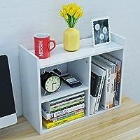 小さいサイズ表示しやすいスタンドホワイト、デスクトップ棚収納本棚