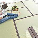 なかね家具 ラグ 夏用 ユニット畳 1畳(82x164) 防音 抗菌 日本製ラグ い草100% 消臭 和風 480tenma