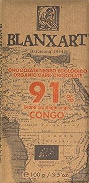 Blanxart Organic 91% Congo Dark Chocolate Bar, 100 g