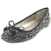 Alfani Womens CAMROON Square Toe Slide Flats, Black, Size 9.5