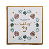 The Art File Wedding Card, Flowers - Congratulations on Your Wedding Day, 1 Count