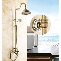 Antiquityシャワータップ、シャワー、すべての内ブロンズスタイルレトロシャワー、Cold & Warmフロントシートフレーム、バスルーム、シャワー、シャワー、 CCYYJJ