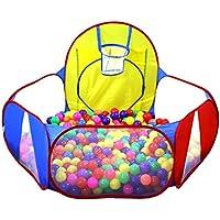 Wershow Ball Pit Play Tent withバスケットボールhoopfor KidsインドアPop Upボール再生テントポータブルPlayhouse Ball PitプールPlaypen – Greatアウトドア幼児用おもちゃ(ボールは含まれません