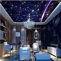 Weaeo 3D壁の壁画の壁紙天井の壁紙空の3D壁の壁画Ktvのホテルの壁の覆いホームインテリア壁紙3D-400X280Cm