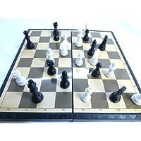 マグネットチェスセット 黒白駒 折り畳み式チェス盤 チェスボード20センチHB-322【磁石駒,CHESS】