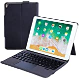 Rimposky iPad Keyboard Case Touchpad Function for iPad 7th Generation 10.2 inch 2019/iPad Air 3rd Generation 10.5 2019/iPad Pro 10.5 2017-Stable Touchpad Function-iPad 7th Generation Case with Keyboard