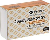 Froth Surf Wax [Tropical/Basecoat] Single Bar by Froth Surf