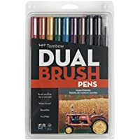 Tombow Dual Brush Pens 10/Pkg-Muted (並行輸入品)