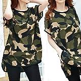 (ポイズンアップル) POISON APPLE チュニック Tシャツ ワンピ レディース ロングT 半袖 スラブ 調 アシメ 大きいサイズ 0121 迷彩カーキ