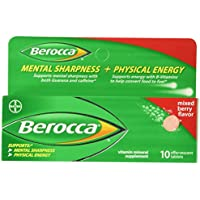 Berocca Mixed Berry Effervescent Tablets 10-Count by Berocca