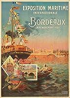 Bordeaux - Exposition Maritime ビンテージポスター (アーティスト: Ponchin) フランス 1907年 24 x 36 Giclee Print LANT-65620-24x36