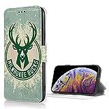 Hao Jinsun ミルウォーキー バックス NBA IPhoneX/XS ケース 手帳型ケース 財布ケース 携帯ケース カード収納 TPU+PUレザー 財布カードスロットカバー 財布型携帯カバー
