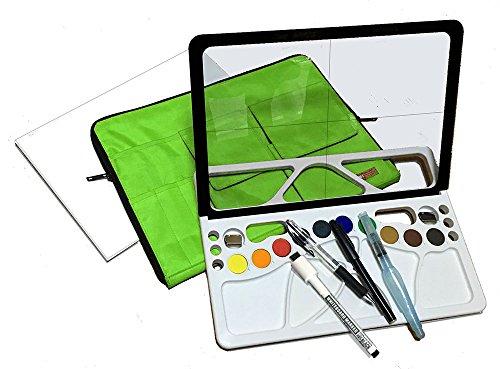 透かして、なぞって、絵が描ける! 水彩スケッチツール w-lette 画材セット ミント
