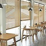 すだれ Exterior&Indoor CafeレストランBamboo Blinds、Blackout Roller Shade Privacy Blinds With Hooks、85cm / 105cm / 125cm / 145cm Wide (Size : W 145×H 260cm)