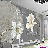 Wuyyii 写真の壁紙カスタム壁画の壁紙アート標本花リビングルーム写真装飾背景-350X250Cm