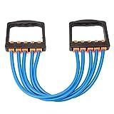 Ueasy 5段階調整チューブエキスパンダー エクササイズ トレーニング 大胸筋 背筋 握力 筋トレ 器具 5色 (ブルー)