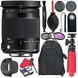 Sigma 18–300mm f / 3.5–6.3DCマクロOS HSM Contemporaryレンズfor Nikon +アクセサリーバンドル