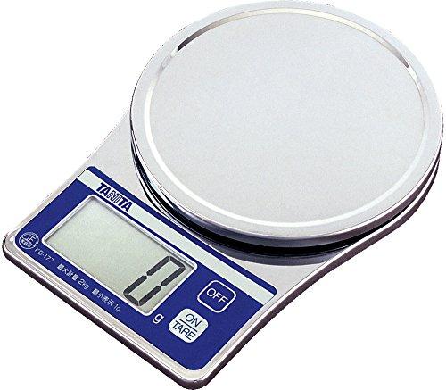 タニタ デジタルクッキングスケール 2kg/1g クロム KD-177-CR