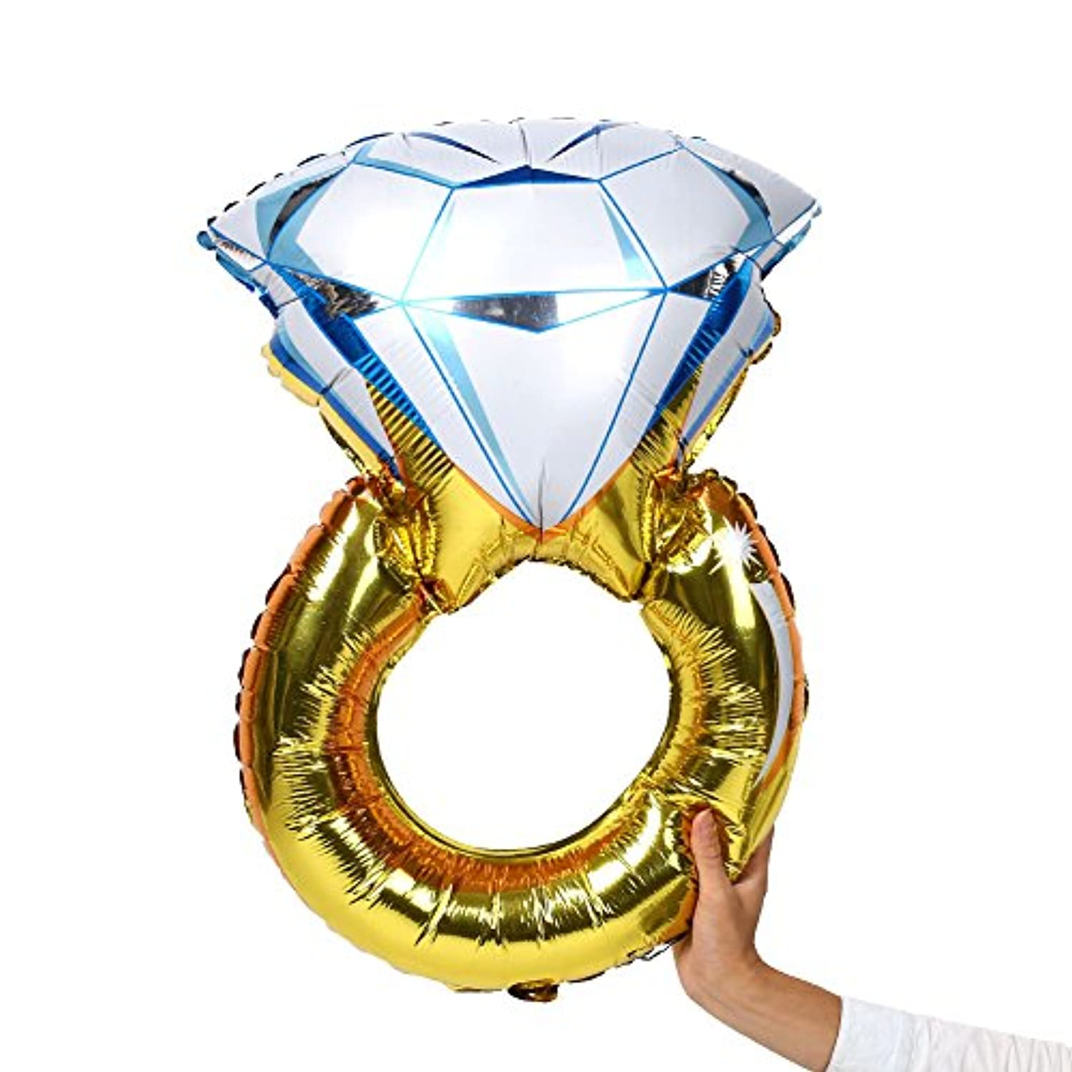 Kicode Inflatable Creative Diamond Ring Big Size Wedding Party Decorations Foil Air Balloon Supplies