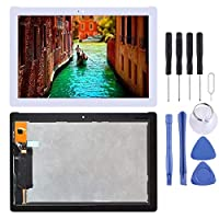 LCD Touch Screen Digitizer Glass Display Assembly LCD画面とデジタイザ完全組立のためのAsus ZenPad 10 Z301MFL LTE版/ Z301MFのWiFi版1920 X 1080ピクセル(黒)LCDスクリーン交換 FENGFENGWUJIN (Color : White)