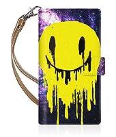 Evis Club 【手帳型】 SIMフリー Nexus 6p H1512 スリムケース ステッチモデル [ ge COSMOS Smile 2333 ] ハンド ストラップ付き - ベージュ