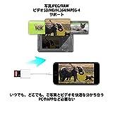 iPhone iPad 専用 Lightning SDカードカメラリーダー IOS専用 iPad iPhone7/7plus/6/6s/6s plus/5s/5c/5対応 高速な写真とビデオ転送 microメモリSDカードリーダー(ホワイト)