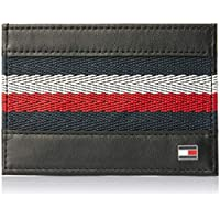 Tommy Hilfiger Corporate Stripe Card Holder Mens Wallet Black