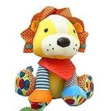 ING STYLE (イング スタイル) ベビー&キッズ なかよしアニマル 音が鳴る 仕掛けぬいぐるみ 知育 玩具 おもちゃ 動物 プレゼントに 人形 遊び 生後3か月頃から 一緒にお出かけ いつでも一緒 ライオン モンキー (ライオン)