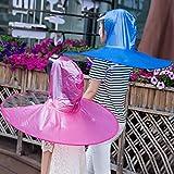 ユニセックスアウトドア釣りゴルフ子供大人カバーハンズフリー帽子傘折りたたみ式UFOレインコートキャップ透明傘