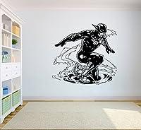 DC Comics Flashウォールアートホーム内部装飾子ルームデザインリビングビニール壁ビニールデカールステッカーdc9( 23x 22)