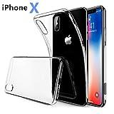 iPhone x ケース 高品質 耐衝撃 クリア TPU シリコン 指紋防止 ソフト 超薄 透明 アイフォン x カバー